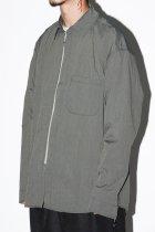 rajabrooke / HUJAN ZIPPER SHIRTS - khaki