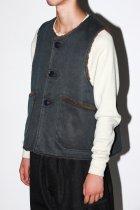 Engineered Garments / Over Vest  Coated Twill - dark navy