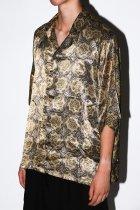 Badhiya / Open collar ss shirts -batik- M