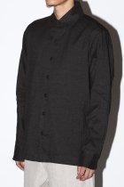 evan kinori / Flat Hem Shirt - Yarn Dyed Summer Cloth