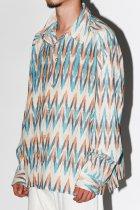 Badhiya / OPEN COLLAR LS SHIRTS -ikat- B