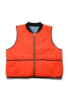 BURLAP OUTFITTER / QUILTED VEST -orange/gray