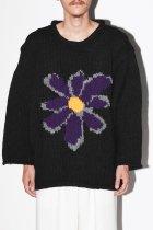 【11月中旬再入荷予定商品/再入荷通知受付中】 MacMahon Knitting Mills / All Roll Knit-Flower - purple
