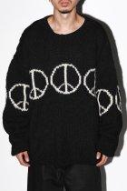 MacMahon Knitting Mills / Line Peace Crew Neck Knit - black
