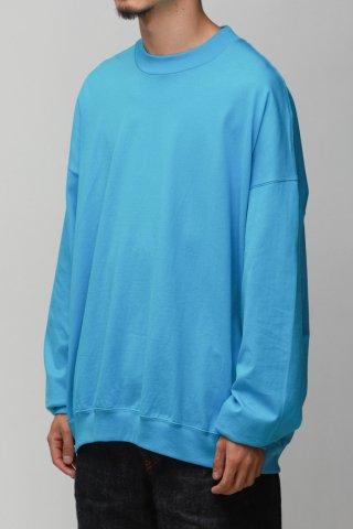 ANDER / LS SWEAT TEE - pool blue