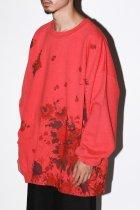 NISH / GARDEN SWEAT - red
