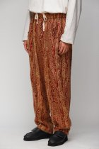 South2 West8 / Army String Pant - India Jacquard - gold bordeaux