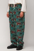 South2 West8 / Army String Pant - India Jacquard - emerald