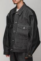 superNova. / Dolman work jacket - Denim - black