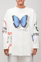 CHANGES / 90's 4panel tee -white LC4