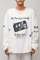 CHANGES / 90's 4panel tee -white LCK2