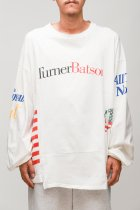 CHANGES / 90's 4panel tee -white LCK4