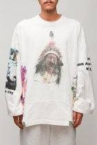 CHANGES / 90's 4panel tee -white LCK7