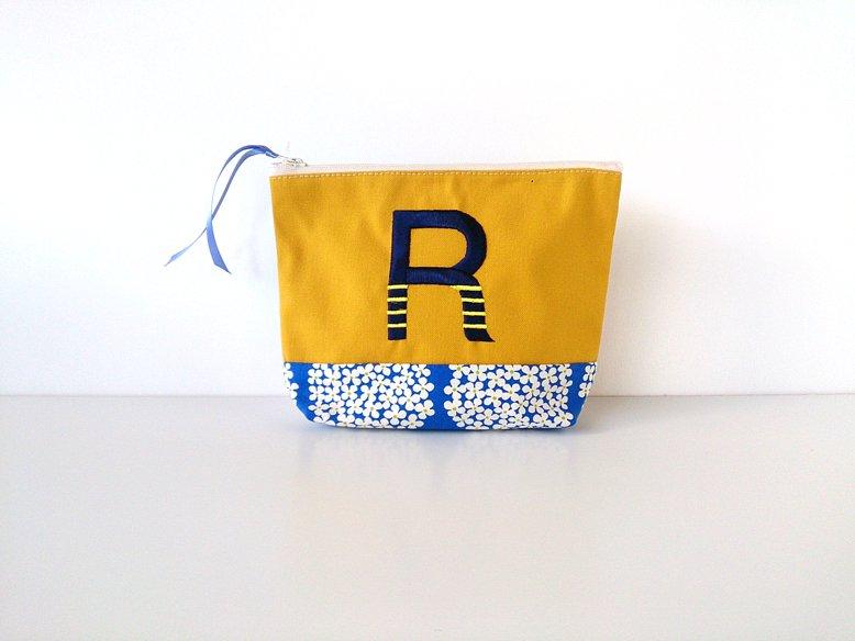 イニシャルポーチ ☆ 『R』