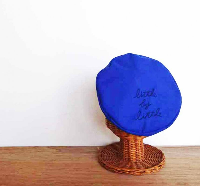 国産fフラノ little by little ベレー帽 カラーで楽しむ冬のベレーコーデ 上級者になれる青