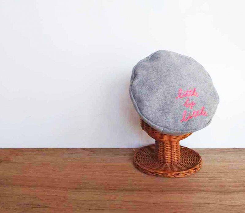 国産fフラノ little by little ベレー帽 カラーで楽しむ冬のベレーコーデ 誰からも愛されるグレー