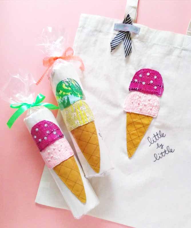 アイスクリーム エコバッグ『ラズベリー味』  毎日の笑顔と一緒に持ち歩こう