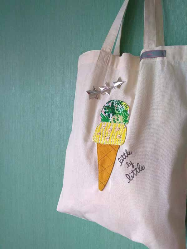 アイスクリーム エコバッグ『レモン味』  毎日の笑顔と一緒に持ち歩こう