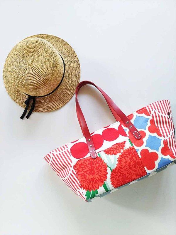 『ラブ赤色Mix』 赤の魅力 細長トートバック あなたの毎日をイロドルバッグ