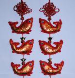 中華風結びつるし飾り (五魚串) 中国雑貨 西安民芸品