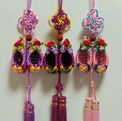 中華風結び飾り(靴柄) (厄除け・縁起) 中華風飾り・中国雑貨 西安民芸品