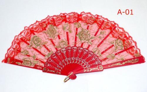 女性用レース扇子・せんす ドン・キホーテやスペインの踊り、キトリに 憧れのバレリーナ バレエ用品