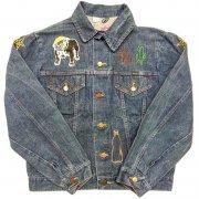 1970 年代 U.S.A. WRANGLER DENIM JACKET Patch Embroidery ラングラー ヴィンテージ  デニムジャケット カラー:インディゴブルー 表記サイズ:42