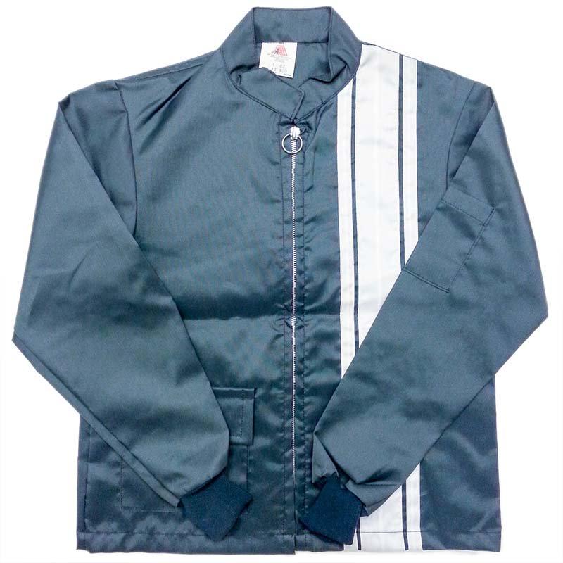 1970 年代 USA Vintage THE GREAT LAKES JACKET RACING J ナイロン レーシングジャケット カラー:緑紺/白 サイズ:ボーイズ12 未使…