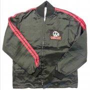 1980 年代 USA Vintage THE GREAT LAKES JACKET RACING GRIZZLY ナイロン レーシングジャケット カラー:黒/赤 サイズ:S 未使用品