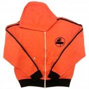 70年代 France VOSGES PATRON Track Jacket フランス製 ヴィンテージ フーデッド トラックジャケット フロッキープリント カラー:オレンジ・黒 サイズ:46