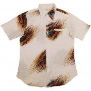 70年代製 USA  ヴィンテージ レトロシャツ ペイント柄 メンズ 半袖   グレード:AB ランク  カラー:赤/黒/青/白 系  サイズ:XL