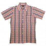 70年代製 USA タウンクラフト ヴィンテージ レトロシャツ チェック編み メンズ 半袖                 グレード:A ランク  カラー:黒/赤/白/灰/ 色系  サイズ:S