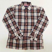 1970 年代製 USA Vintage Arrow Sportswear ヴィンテージ アロースポーツウェア ウール チェック ボードシャツ カラー:黒/茶/白 色系 表記サイズ:M