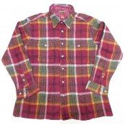 1970 年代製 USA Vintage HIGH SIERRA ヴィンテージ ハイシエラ ウール チェック ボードシャツ カラー:えんじ/紺/緑/柿/白 色系 表記サイズ:XL