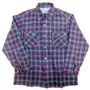 1960 年代製 USA Vintage PENDLETON ヴィンテージ ペンドルトン ピュア バージンウール チェック ボードシャツ カラー:紺/青/緑/乳/ 色系 表記サイズ:M