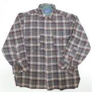 1950 年代製 USA Vintage PENDLETON ヴィンテージ ペンドルトン ピュアバージンウール オンブレーチェック ボードシャツ カラー:黒/緑/灰/白/ 色系 表記サイズ:151/2