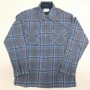 1970 年代製 USA Vintage J. C. Penney ヴィンテージ J.C.ペニー ウール チェック ボードシャツ カラー:紺/青/茶/乳/ 色系 表記サイズ:M