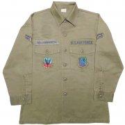 1987年製 U.S.A. AIR FORCE OG-507 J.H. RUTTER REX MFG フィールド ユーティリティシャツ カラー:オリーブグリーン サイズ:15½ x31