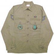 1984年製 U.S.A. AIR FORCE OG-507 ガルフ アパレルコーポレーション フィールド ユーティリティシャツ カラー:オリーブグリーン サイズ:15½ x35
