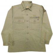 1970年代製 USA U.S.AIR FORCE OG-507 フィールド ユーティリティシャツ カラー:オリーブグリーン サイズ:15 相当