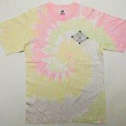 1980年代製 USA FRUIT OF THE LOOM フルーツオブザルーム Tie Dye T-shirt タイダイTシャツ 淡ピンク/淡黄色 サイズ:M グレード:AB