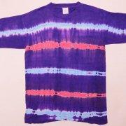 1980年代製 USA Tie Dye T-shirt タイダイTシャツ 紫/赤紫/水色 サイズ:L グレード:AB
