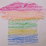 1980年代製 USA Tie Dye T-shirt タイダイTシャツ 桃色/橙色/黄緑/黄/青/白 サイズ: グレード:AB