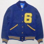 1960〜70年代製 USA ヴィンテージ BUTWIN バトウィン  アワードジャケット(スタジャン) メルトンウール シェニールワッペン:6 ネイビーブルー サイズ:S グレード:AB