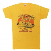 1980年代製 Canada HARVEY WOODS プリントTシャツ Riverside Inn RIVERHURST SASK 色:イエロー サイズ:S グレード:AB