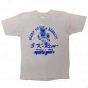1980年代製 U.S.A. MEDALLION メダリオン プリントTシャツ Sports gear ltd. 色:ライトグレー サイズ:M グレード:AB