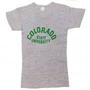 1970年代製 U.S.A. プリントTシャツ Colorado State University 色:霜降りグレー サイズ:M 38-40 グレード:AB