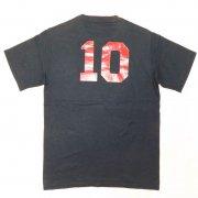 1980年代製 U.S.A. RUSSELL ATHLETIC ナンバー10 Tシャツ 色:ブラック サイズ:S 34-36 グレード:A