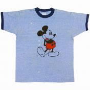 古着 USA ミッキーマウス リンガー Tシャツ