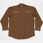 1970's 製 U.S.A. ヴィンテージ KARMAN カーマン ウエスタンシャツ カウボーイ シャツ /刺繍 /ブラウン